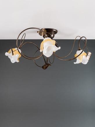 Deckenleuchte 103691/1 Florentiner braun-gold | Serie 3.69 ''Magnolia''
