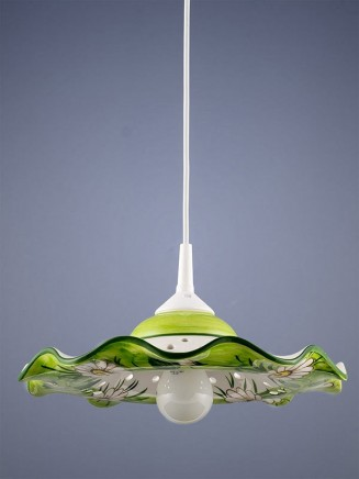 Pendelleuchte 207055 Keramik Margerite weiss Serie 7.05 ''Flowers''