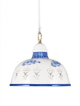 Pendelleuchte 2070710 Keramik weiss blau Serie 7.07 ''Luce Ceramica''