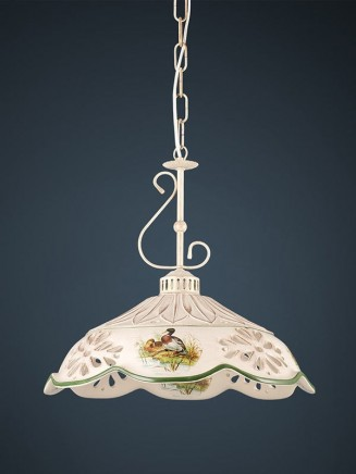 Pendelleuchte 207071 Keramik braun dekoriert Serie 7.07 ''Luce Ceramica''