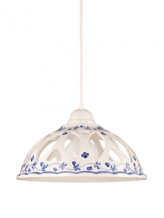 Pendelleuchte 207072 Keramik weiss blau Serie 7.07 ''Luce Ceramica''