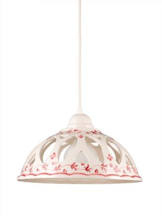 Pendelleuchte 207076 Keramik weiss rot Serie 7.07 ''Luce Ceramica''