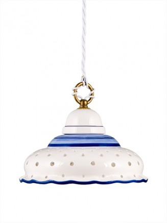 Pendelleuchte 207141 Keramik weiss-blau | Serie 7.14 ''Little blau''