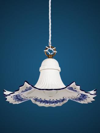 Pendelleuchte 207166 Keramik weiss-blau Serie 7.16 ''Ranke''