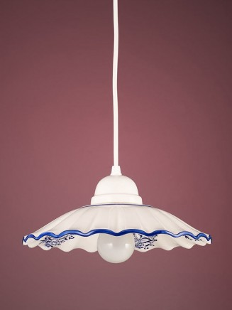 Pendelleuchte 207181 Keramik weiss - blau Serie 7.18 ''Bella Casa''