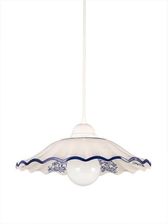 Pendelleuchte 207182 Keramik weiss- blau Serie 7.18 ''Bella Casa''