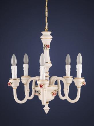 Lüster 264571 5-flammig Keramik handbemalt Serie 4.57 ''Spina''