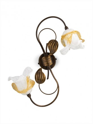 Wandleuchte 303694/1 Florentiner braun-gold | Serie 3.69 ''Magnolia''