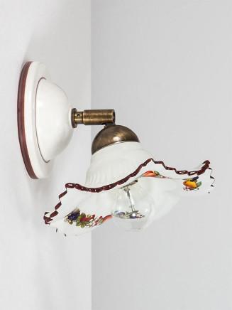 Wandleuchte 307154 Keramik bunt dekoriert Serie 7.15 ''Früchtchen''