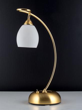 Tischleuchte 404244 modern, echt Messing, 24k vergoldet, Serie 4.24 ''Angelique''