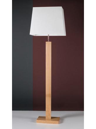 Stehleuchte 508061-BU Massivholz Buche natur  & Stoffschirm weiss Serie 8.06 ''Weimar''