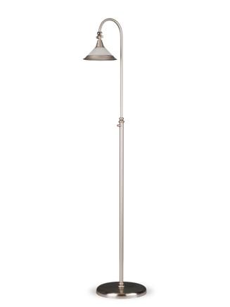 Stehleuchte 584227-NI modern, echt Messing, Nickel matt, Serie 4.22 ''Velden''